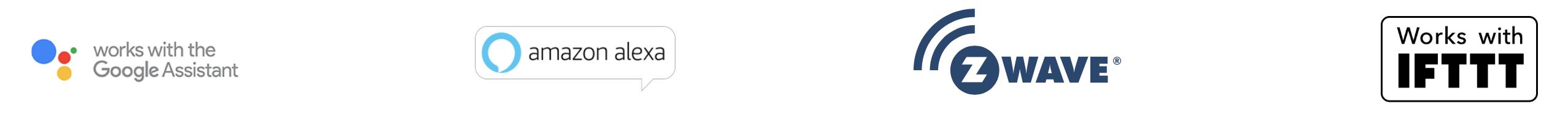 Smart Home München: Logos Google Amazon zWave IFTTT