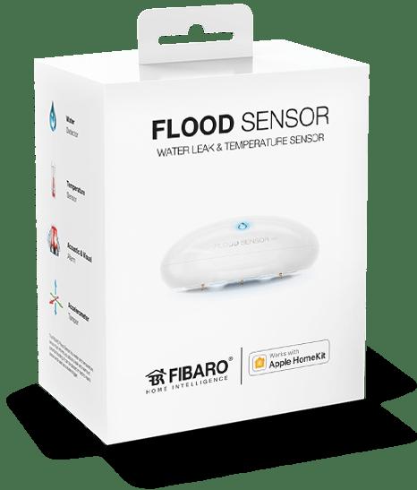 Smart Home München: Verpackung FIBARO Flood Sensor Apple Homekit
