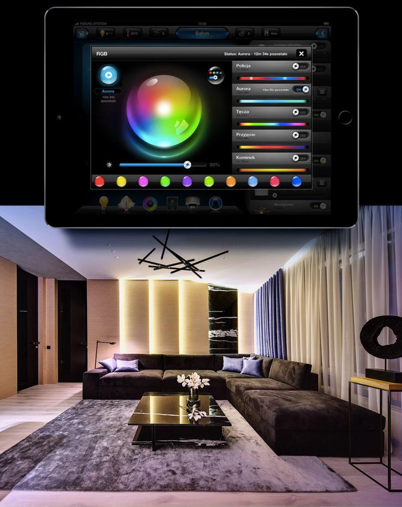 Smart Home München: RGBW die Farben Tablet mobile
