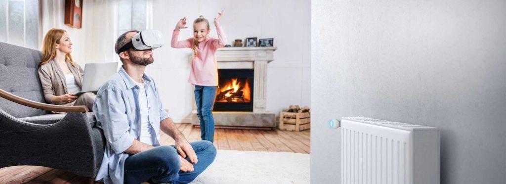 Smart Home München: Der FIBARO Heat Controller reagiert auf die Anzahl der Personen in einem Raum.