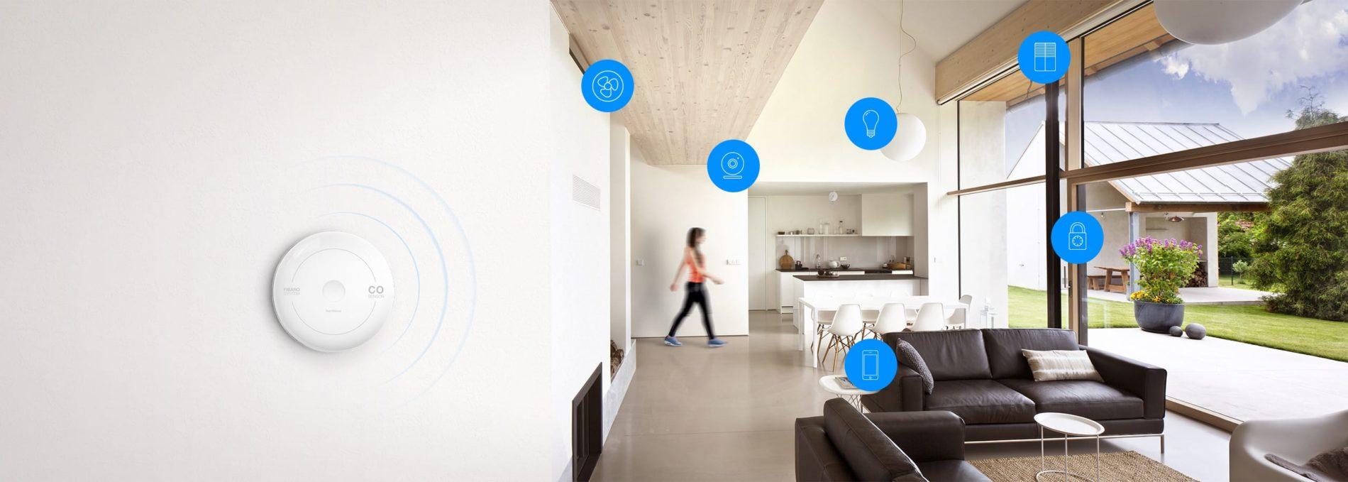 Smart Home München: Der CO-Sensor arbeitet mit anderen FIBARO-Geräten zusammen und trägt so dazu bei, Ihr Zuhause intelligent zu schützen.